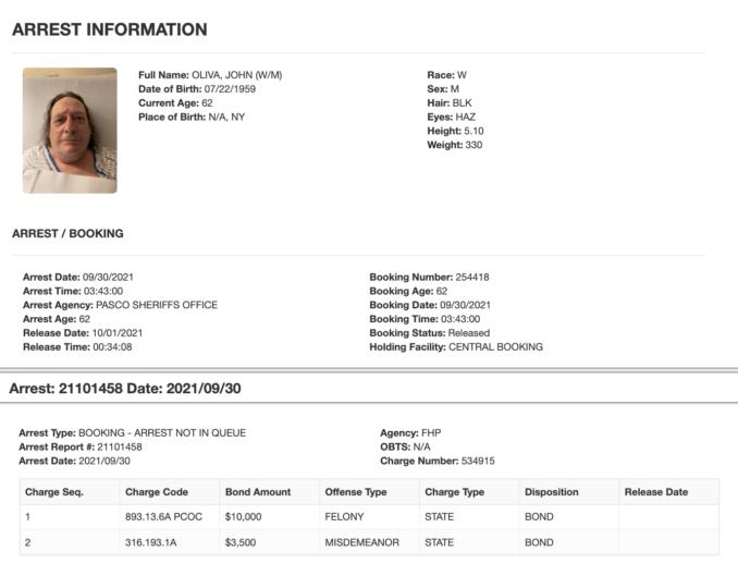Arrest record